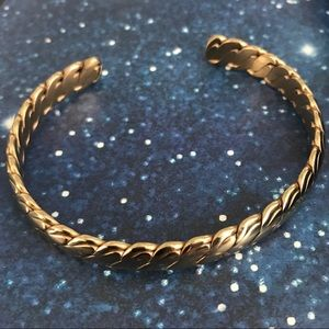 Jewelry - Rose Gold Ion Plated Stainless Steel Cuff Bracelet